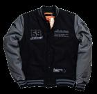 Kurtka College Varsity Jacket Alpha Industries Szaro Czarna