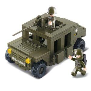 Zestaw klocków dla dzieci Armia Sluban B0297 Samochód terenowy Humvee