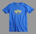 Koszulka T-shirt z nadrukiem Alpha Industries pacific blue