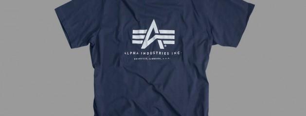 Koszulka T-shirt z nadrukiem Alpha Industries Navy