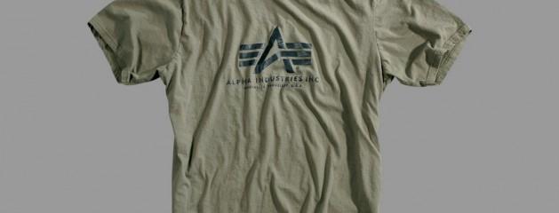 Koszulka T-shirt z nadrukiem Alpha Industries Olive