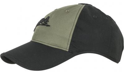 Czapka Baseball Helikon Logo Cap Czarna / Olive Green