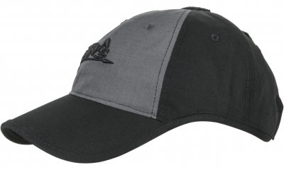 Czapka Baseball Helikon Logo Cap Czarna / Shadow Grey
