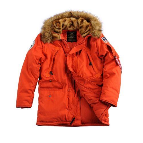 Parka zimowa Polar Jacket Czerwona Alpha Industries