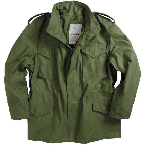 4c71879342778 Kurtka M65 Alpha Industries z podpinką Olive green Oliwkowa