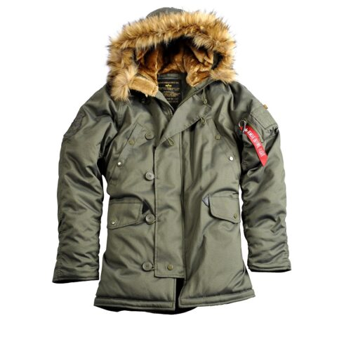 Alpha Industries Explorer zimowa parka męska Dark Green
