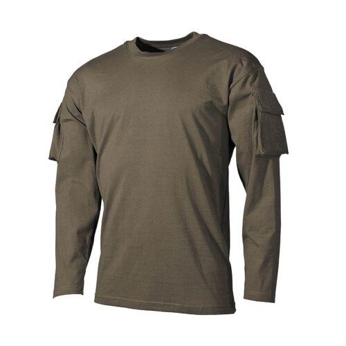 Koszulka z długim rękawem ACU MFH Oliwkowa