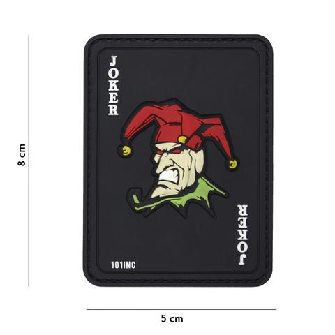 Naszywka PVC Karta Joker kolor