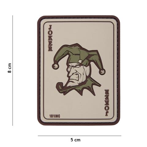Naszywka PVC Karta Joker coyote