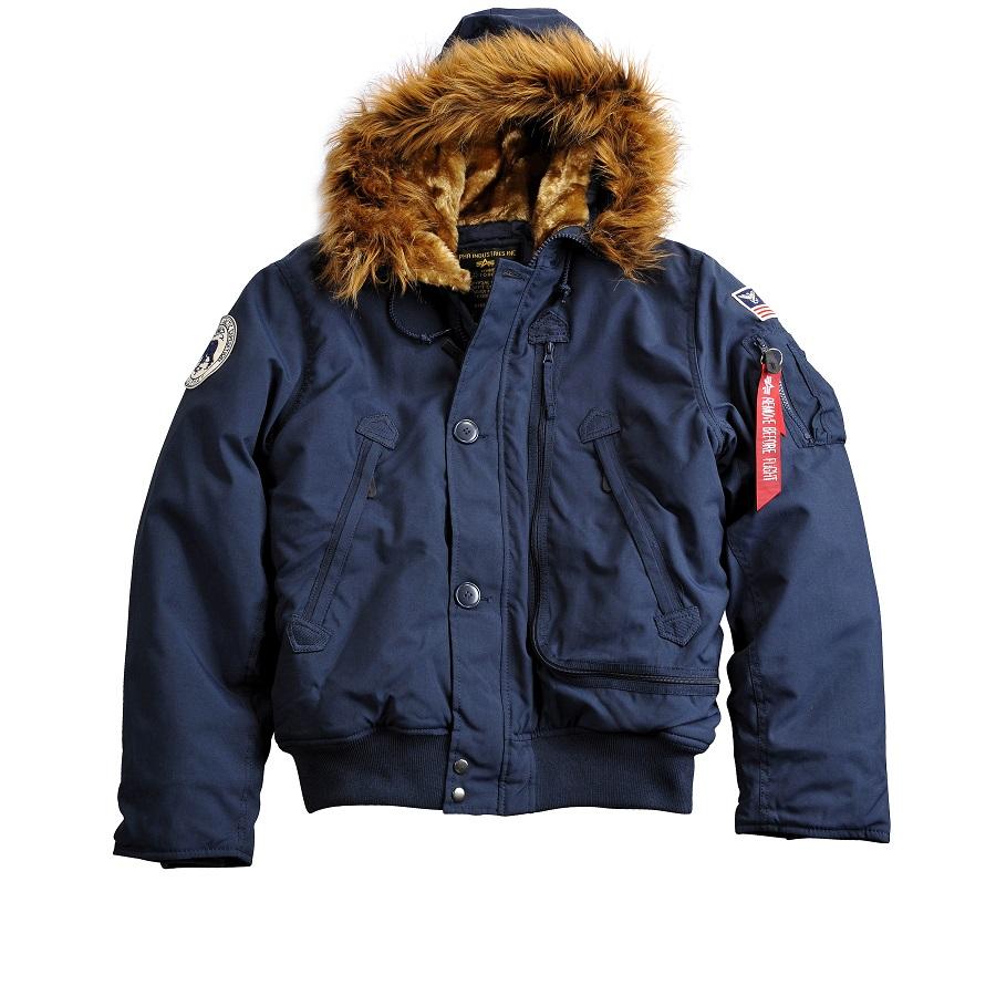 Kurtka Zimowa N2B Polar Jacket SV Alpha Industries Granatowa