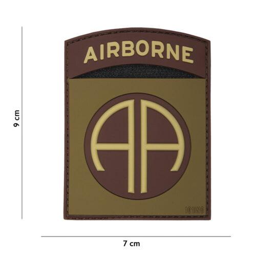 Naszywka 3D PVC Airborne 82ND Coyote