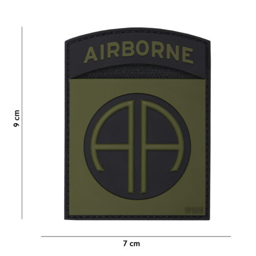 Naszywka 3D PVC Airborne 82ND Oliwkowa