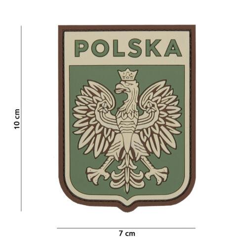Naszywka PVC Polska Godło Multicam