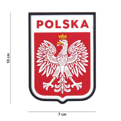 Naszywka PVC Polska Godło