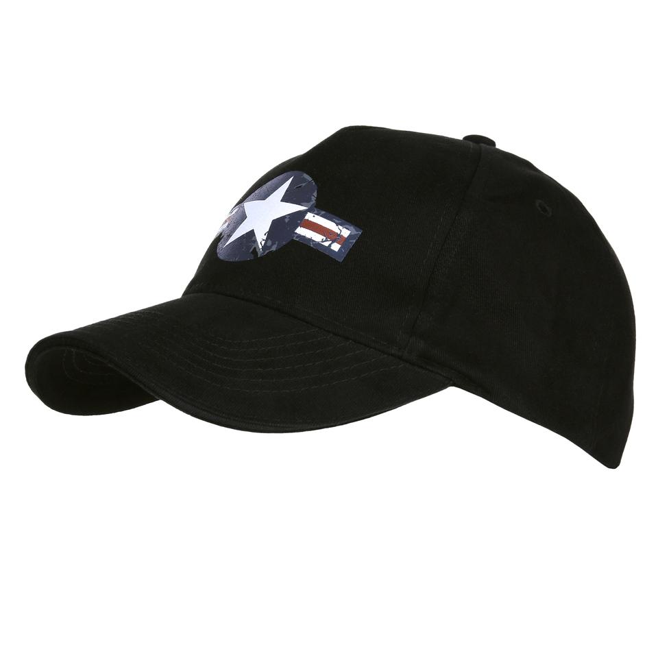 Bejsbolówka Czapka USAF WWII Fostex Czarna