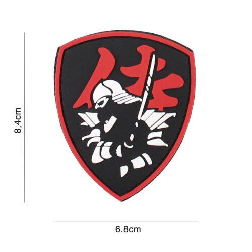 Samuraj Naszywka PVC Tarcza Czerwona