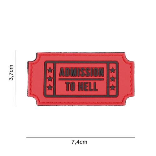 Naszywka Admission to Hell PVC Czerwona