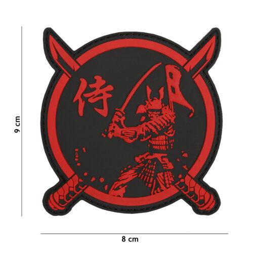 Naszywka Samuraj PVC Wojownik Czerwona