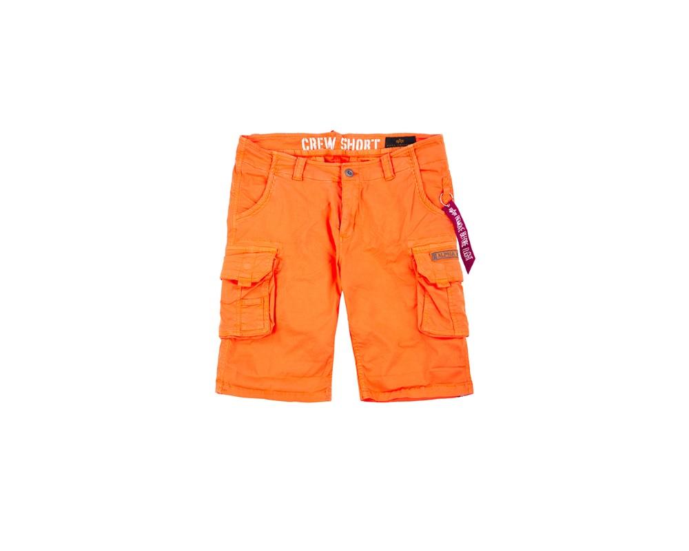 Krótkie Bojówki Alpha Industries Crew Short Flame Orange
