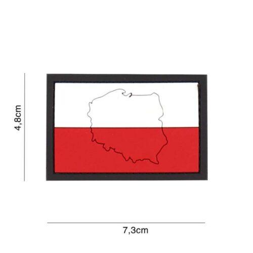 Naszywka PVC Flaga Polska Kontur