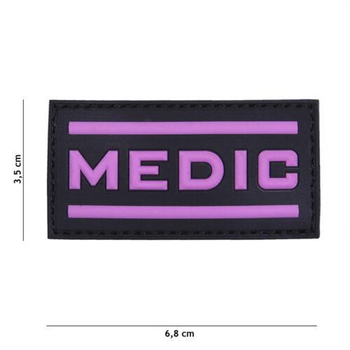 Naszywka velcro Medic Pink PVC