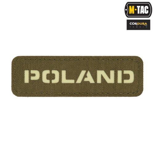 Naszywka Poland Ranger Green GID 25х80 Laser Cut M-tac